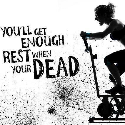 You'll get enough rest when you're dead Picture Quote #1