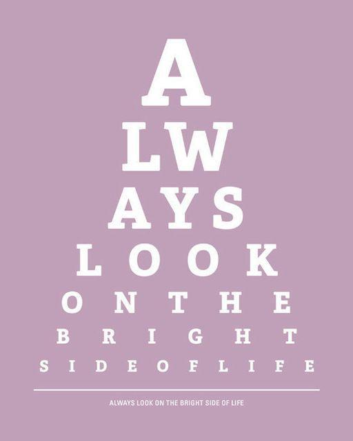 Always look on the bright side of life Picture Quote #1