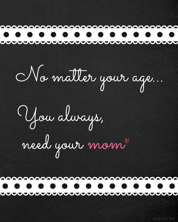 No matter your age you always need your mom Picture Quote #1