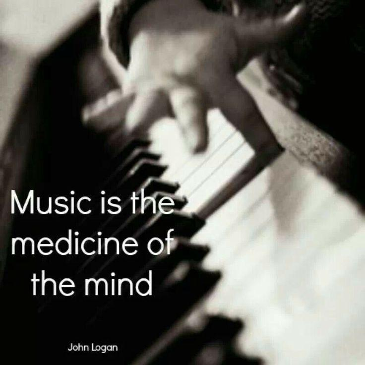 Music is the medicine of the mind Picture Quote #1