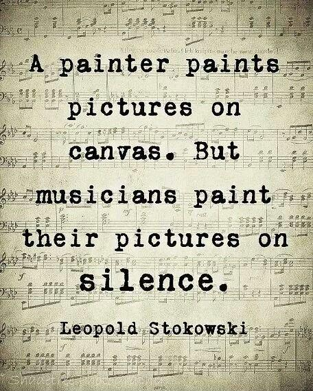 A painter paints pictures on canvas. But musicians paint their pictures on silence Picture Quote #1