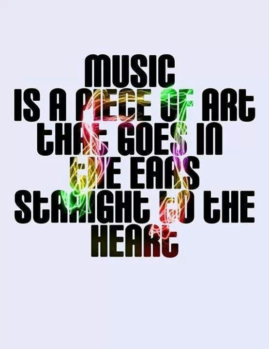 Music is a piece of art that goes in the ears straight to the heart Picture Quote #1