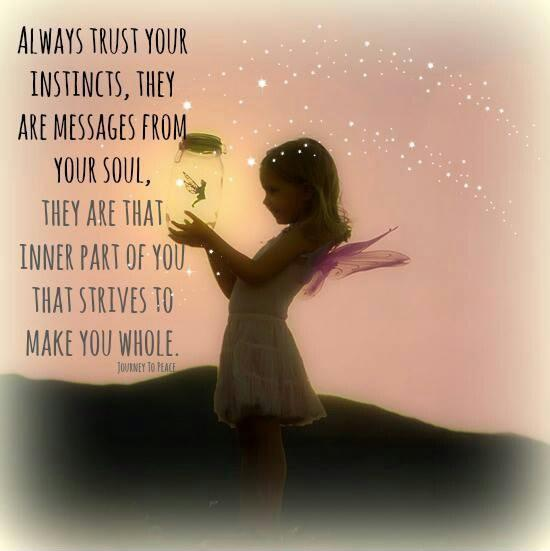 Always trust your instincts, they are messages from your soul. They are that inner part of you, that strives to make you whole Picture Quote #1