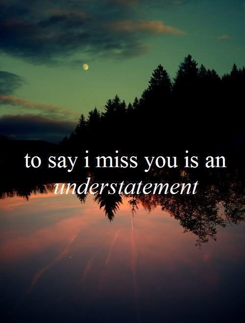 To say I miss you is an understatement Picture Quote #1