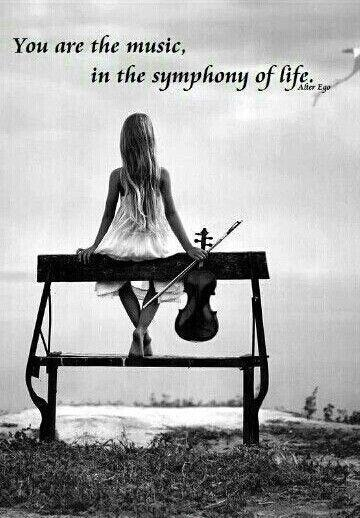 You are the music in the symphony of life Picture Quote #1