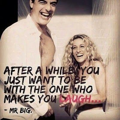 After a while you just want to be with the one who makes you laugh Picture Quote #1