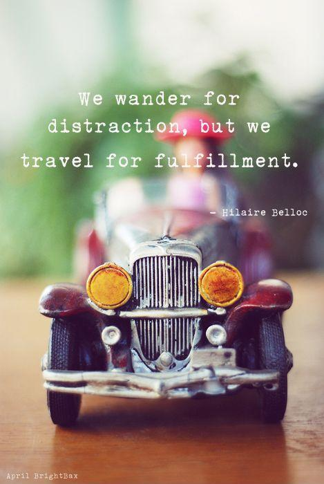 We wander for distraction, buy we travel for fulfillment Picture Quote #1