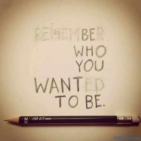 Be who you want to be Picture Quote #1