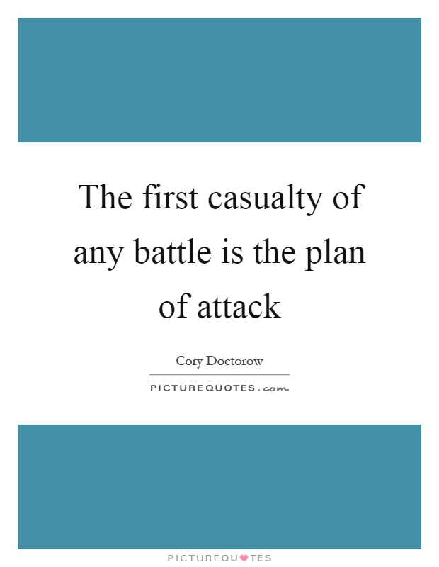 The first casualty of any battle is the plan of attack Picture Quote #1