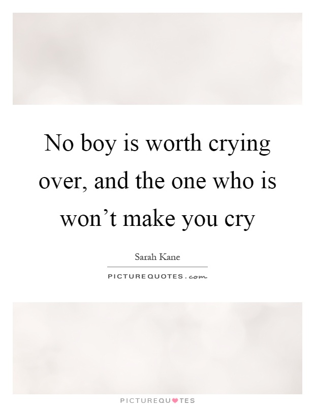 how to stop crying over a boy