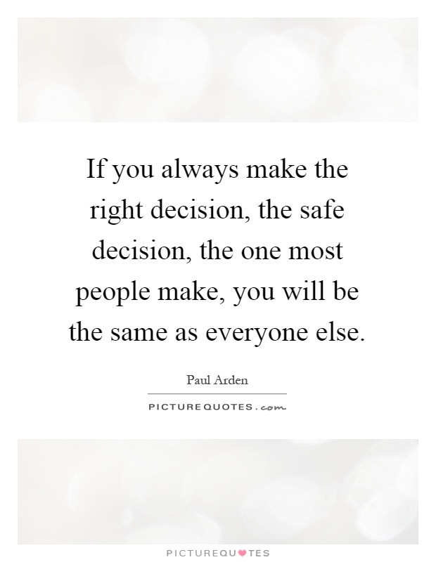 how to make the best decision for yourself