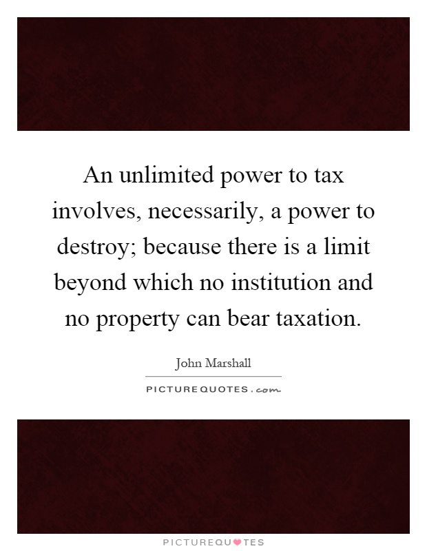 power of taxation