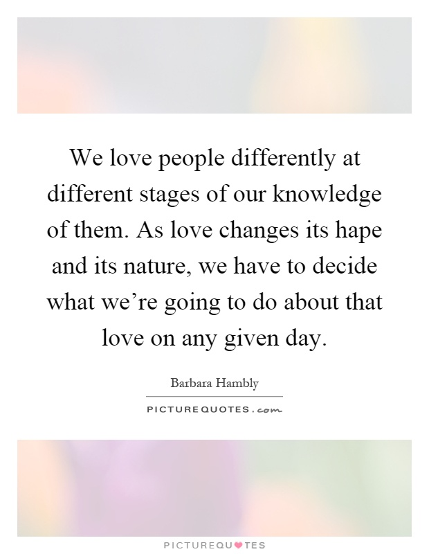 What are the different stages of love