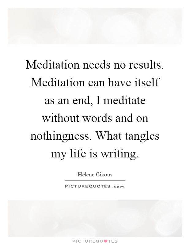 Meditation without words