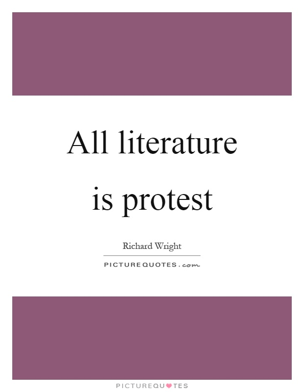 protest literature In timothy patrick mccarthy and john stauffer's course, american protest literature from tom paine to tupac, students have the option to create their own protest literature as the final.