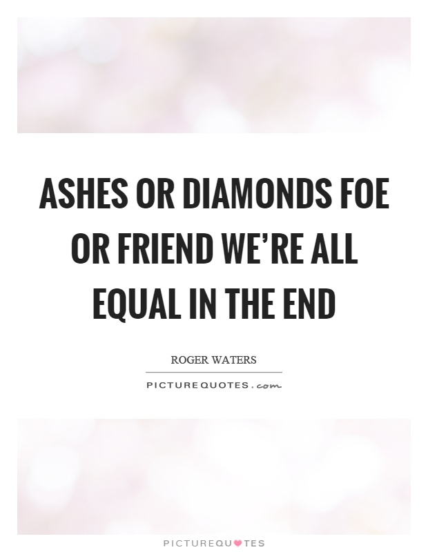 ashes and diamonds ending a relationship