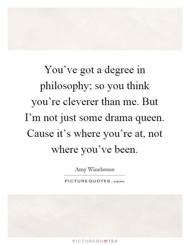 A degree in philosophy