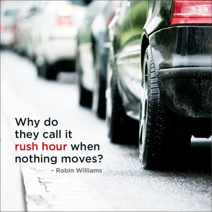 Why do they call it rush hour when nothing moves? Picture Quote #1