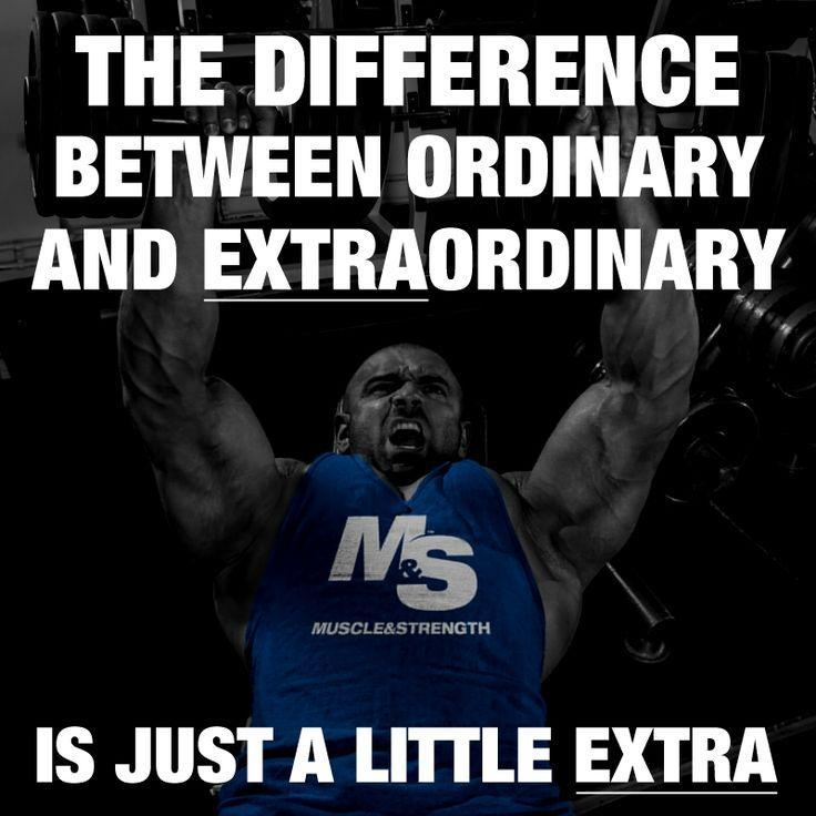 The difference between Ordinary and Extraordinary is just a little Extra Picture Quote #1
