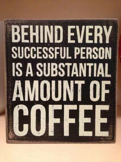 Behind every successful person is a substantial amount of coffee Picture Quote #1