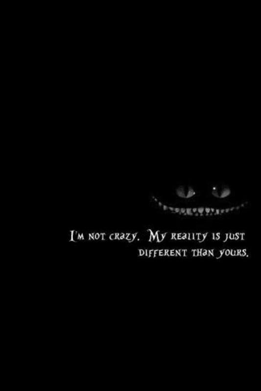 I'm not crazy. My reality is just different than yours Picture Quote #2