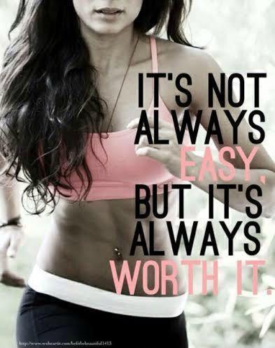 It's not always easy. But it's always worth it Picture Quote #1