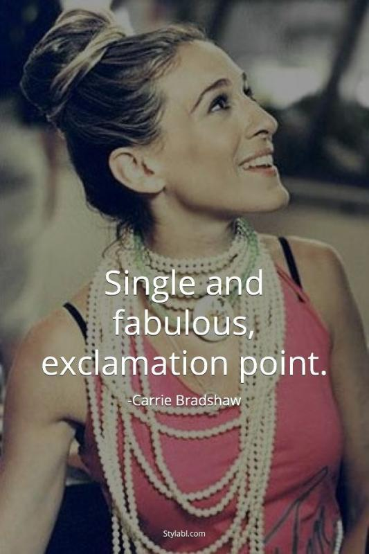 Single and fabulous, exclamation point Picture Quote #1