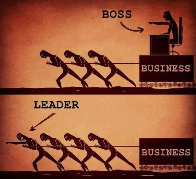 Boss Vs Leader Picture Quote #1