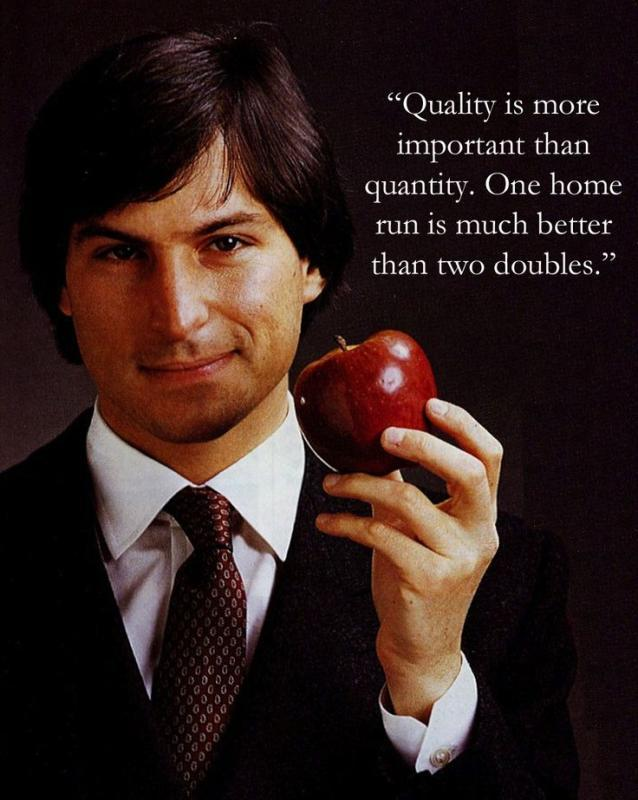 Quality is more important than quantity. One home run is much better than two doubles Picture Quote #1