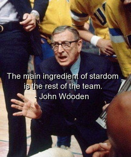 The main ingredient of stardom, is the rest of the team Picture Quote #1