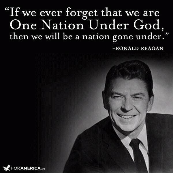 If we ever forget we are One Nation Under God, then we will be a nation gone under Picture Quote #1