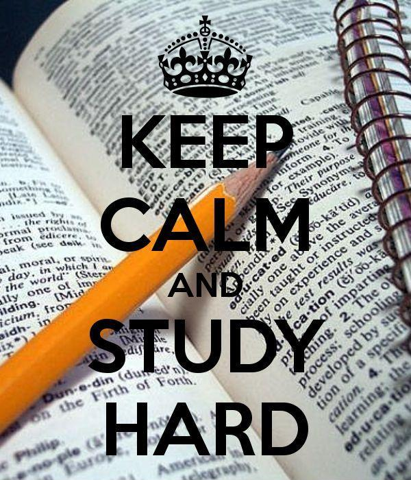 Keep calm and study hard Picture Quote #1