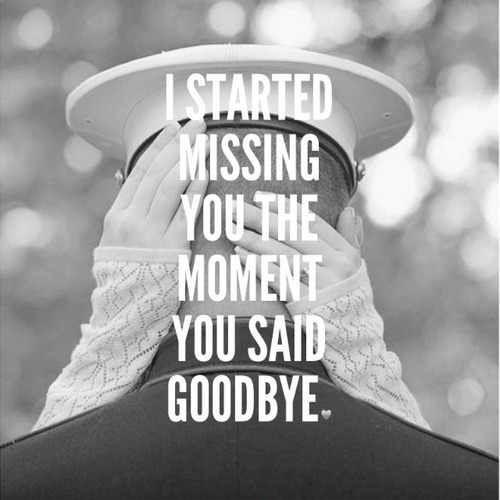 I started missing you the moment you said goodbye Picture Quote #1