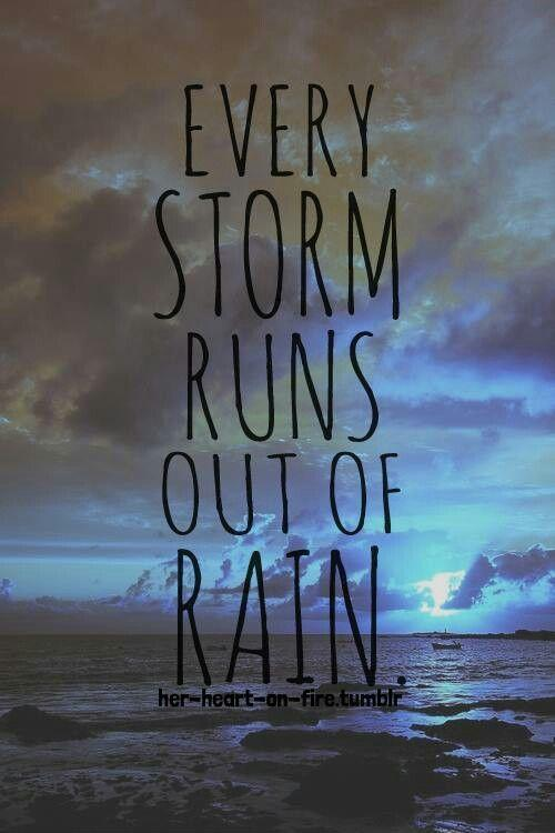 Every storm runs out of rain Picture Quote #1