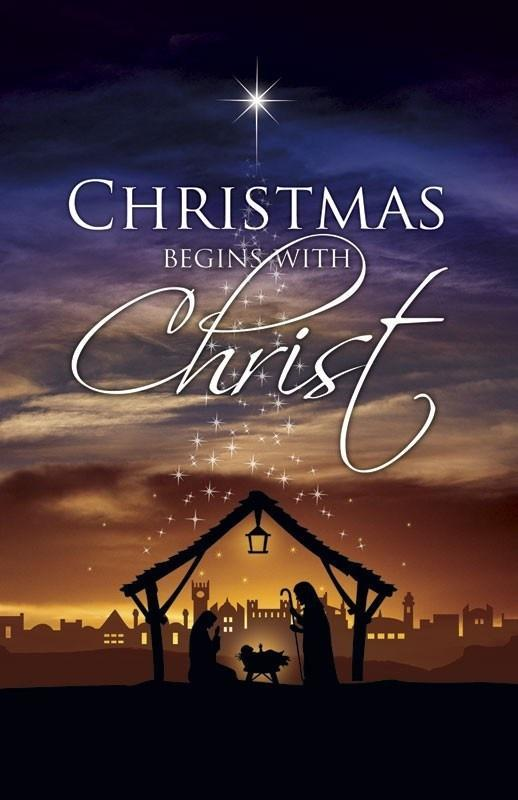 christmas begins with christ picture quote 1