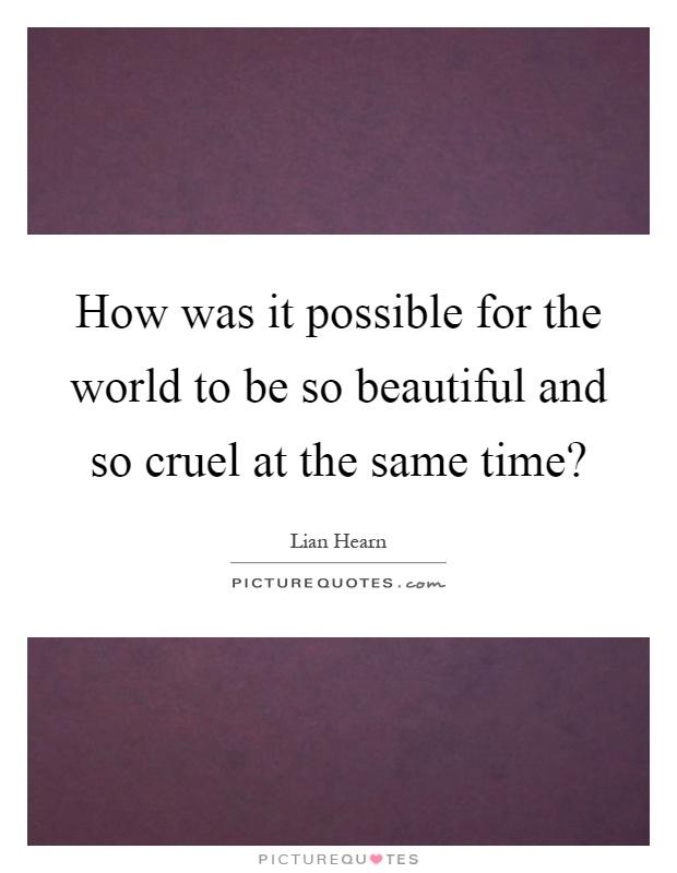 cruel and beautiful world pdf