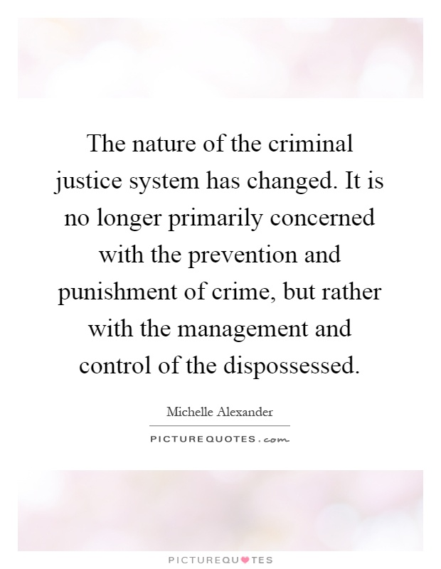 management challenges in criminal justice essay