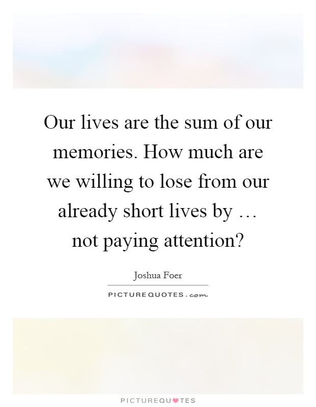 How Our Memory Affects Our Life