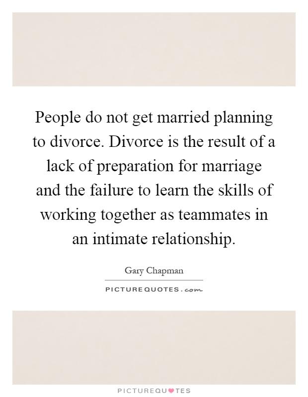 Planning a divorce?
