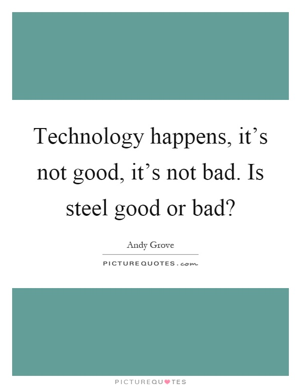 essay of technology good or bad