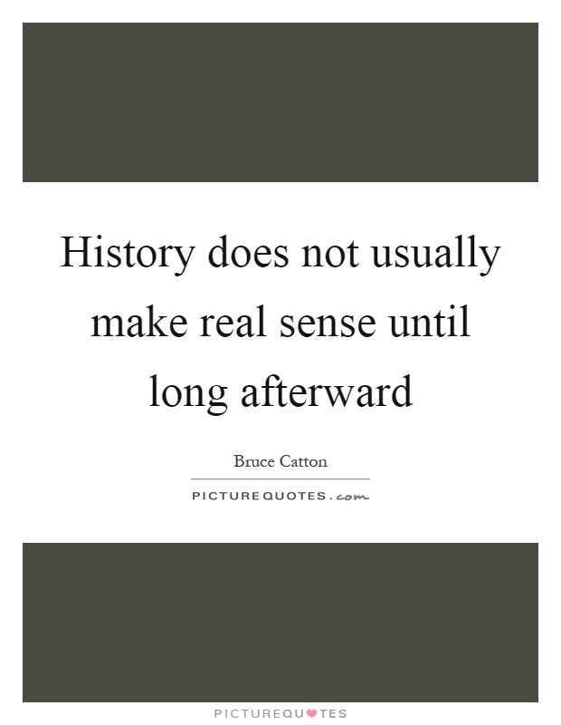 History does not usually make real sense until long afterward Picture Quote #1