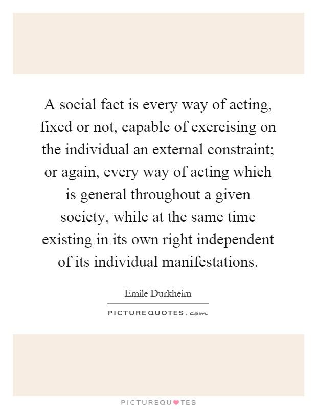 emile durkheim social facts pdf