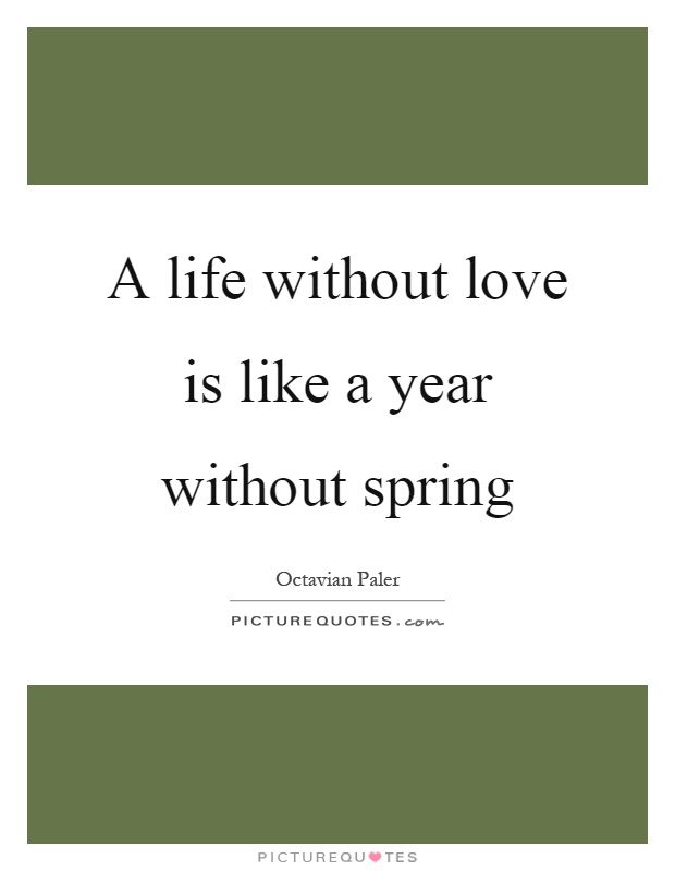 A life without love is like a year without spring Picture Quote #1