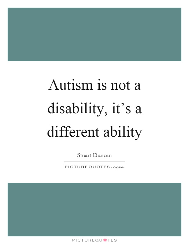 essay on disability is not an ability