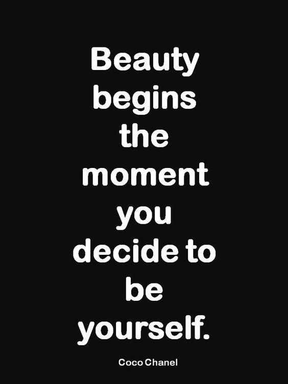 Beauty begins the moment you decide to be yourself. Picture Quote #2