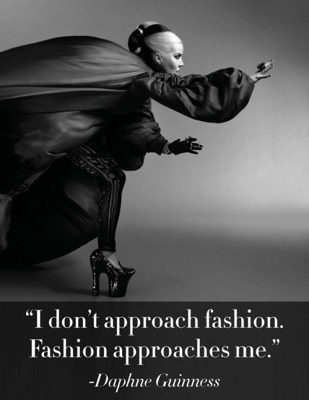 I don't approach fashion, fashion approaches me Picture Quote #1