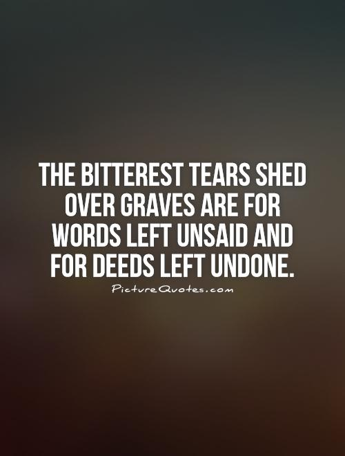 Thesis words left unspoken