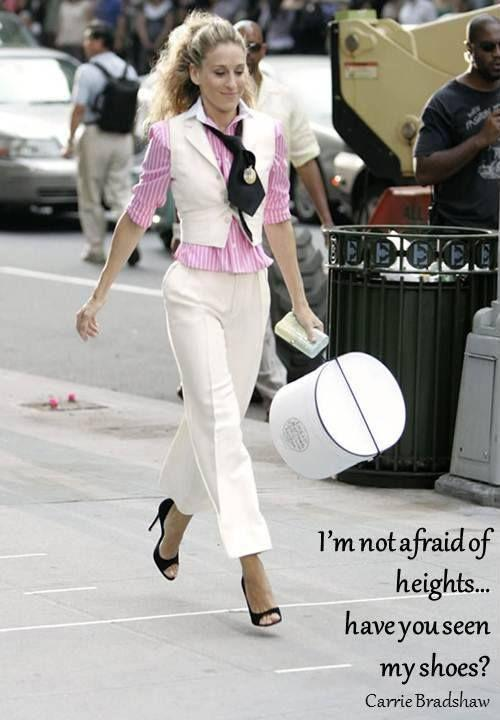 I'm not afraid of heights... have you seen my shoes? Picture Quote #1