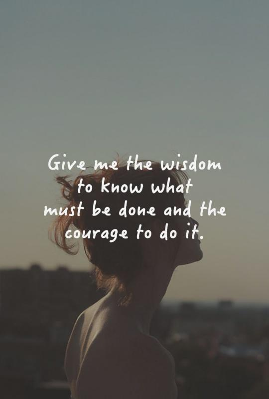 Give me the wisdom to know what must be done, and the courage to do it Picture Quote #2
