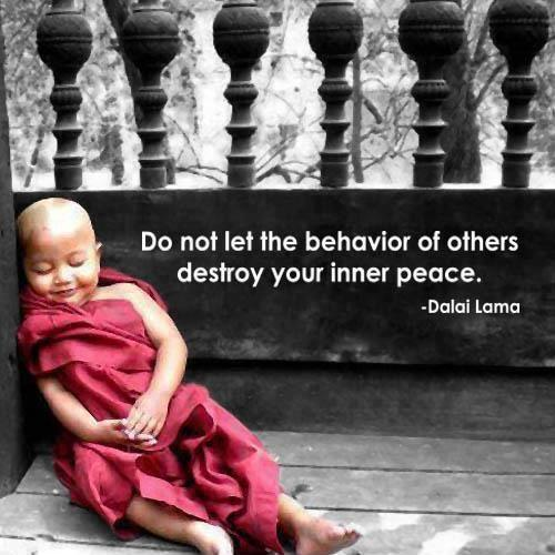 Do not let the behavior of others destroy your inner peace Picture Quote #2